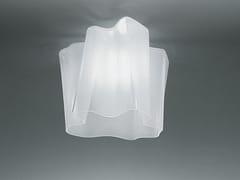 Lampada da soffitto alogena in vetro soffiato LOGICO | Lampada da soffitto - Logico
