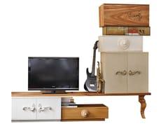 Mobile TV in legno con ante a battente e cassettiLONDON | Mobile TV - LOLA GLAMOUR