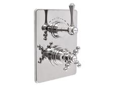 Miscelatore per doccia a 2 fori termostatico con piastraLONDRA - 8212-LN - RUBINETTERIA GIULINI GIOVANNI