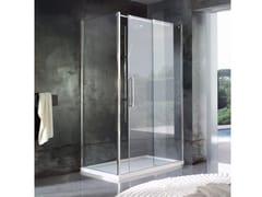 Box doccia angolare su misura in cristallo con porta scorrevole LOOK | Box doccia angolare -
