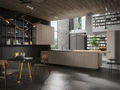Cucina in legno con penisola LOOK | Cucina in legno - SISTEMA