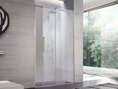 Box doccia a nicchia su misura in cristallo con porta scorrevoleLOOK | Box doccia a nicchia - KAROL ITALIA