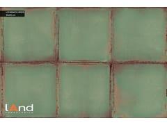 Land Porcelanico, LOOKBACK GREEN Pavimento/rivestimento in gres porcellanato tecnico effetto metallo