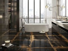 Flooring & Wall tiles with metal effect