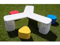 Tavolo e sedie in acciaio zincato per bambiniLOOP - DIMCAR