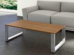 Tavolino a slitta rettangolare in noceLOOPY | Tavolino rettangolare - BRALCO