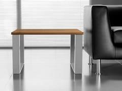 Tavolino a slitta quadrato in noceLOOPY | Tavolino quadrato - BRALCO