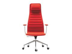 Sedia ufficio girevole con ruoteLOTUS HIGH - CAP DESIGN