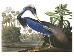 Stampa artistica in PET riciclatoLOUISIANA HERON - BIRD - MONDIART INTERNATIONAL