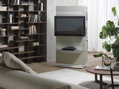 Mobile TV girevole con libreria LOUNGE | Mobile TV laccato -