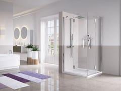 Box doccia angolare con porta a battenteLOUVRE | A - NOVELLINI