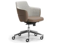 Poltrona ufficio direzionale ad altezza regolabile in lana con braccioliOPERA | Poltrona ufficio direzionale con schienale basso - LEYFORM
