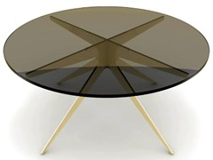 Tavolino rotondo in acciaio e vetro da salottoDEAN | Tavolino in acciaio e vetro - GABRIEL SCOTT