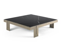 Tavolino basso quadrato in marmo Sahara Noir e metalloDISTRICT VII | Tavolino basso - JUMBO GROUP