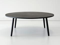 Tavolino basso da caffè rotondo in legno massello CRESCENTTOWN | Tavolino basso -