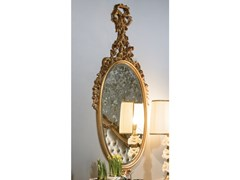 Specchio ovale in legno con cornice da parete3700_LUIGI XVI | Specchio - BELLOTTI EZIO ARREDAMENTI