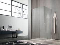 Box doccia angolare con porta a battente LULA UW+UL - Showering