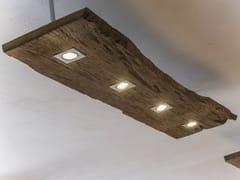 LAMPADA A SOSPENSIONE A LED IN LEGNO DI RECUPEROLUMIERA - A&B ROSA DEI LEGNI BY ANTICA EDILIZIA