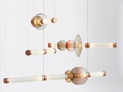 Lampada a sospensione a LED in vetro soffiatoLUNA 3 | Lampada a sospensione - GABRIEL SCOTT