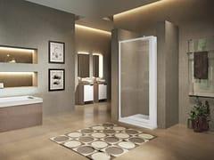 NOVELLINI, LUNES 2.0 F (SOLO PROFILI) Profilo per box doccia angolare con porta a battente