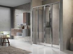 Box doccia a nicchia con porta scorrevole LUNES 2A - Lunes