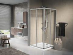 Box doccia angolare con porta scorrevole LUNES A - Lunes