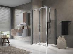 Box doccia angolare con porta a battente LUNES B+F - Lunes