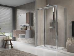 Box doccia angolare con porta a battente LUNES G+F IN LINEA +F - Lunes
