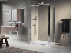 Box doccia angolare con porta a battente LUNES G+F - Lunes