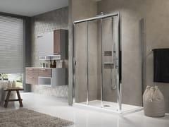 Box doccia angolare con porta scorrevole LUNES 3P+F - Lunes