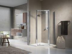 Box doccia angolare con porta a battente LUNES PENTAGONO G - Lunes