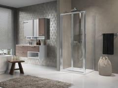 Box doccia angolare con porta a soffietto LUNES S+F - Lunes