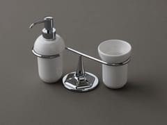 Dispenser sapone / portaspazzolino in ceramicaLUX | Portaspazzolino in ceramica - BLEU PROVENCE