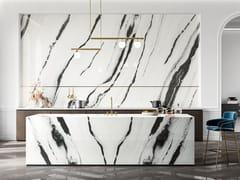 Pavimento/rivestimento in gres porcellanato effetto marmoLUX EXPERIENCE PANDA WHITE - ITALGRANITI