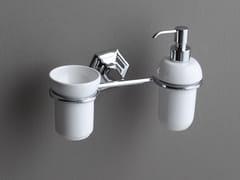 Dispenser sapone / portaspazzolino in ceramica LUX | Portaspazzolino - Lux