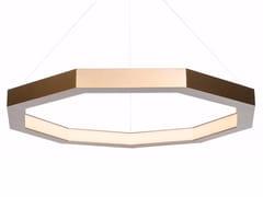 Lampada a sospensione a LED a luce diretta in alluminio LUXENNEA -