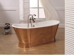 Vasca da bagno centro stanza in rameLUXURY COPPER - BLEU PROVENCE
