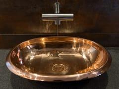 Lavabo da appoggio ovale in rameCOVAL - BLEU PROVENCE