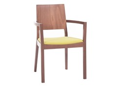 Sedia in legno con braccioli LYON 514 | Sedia con braccioli -