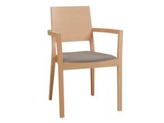 Sedia in legno con braccioli con cuscino integrato LYON 516 | Sedia con braccioli -