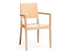 Sedia in legno con braccioli LYON 516 -