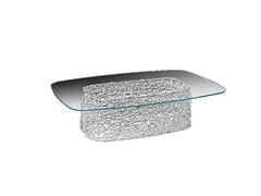 Tavolino basso rettangolare in vetroMACRAMÈ   Tavolino rettangolare - FIAM ITALIA