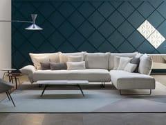 Divano modulare in tessuto con chaise longueMADAME C. | Divano con chaise longue - BONALDO
