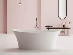 Vasca da bagno ovale in BluStoneMADRAS - BLUBLEU