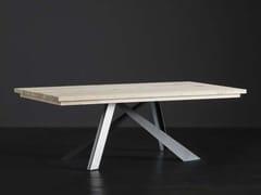 Tavolo da pranzo rettangolare in legno MADRID + METAL - ECOLAB 2