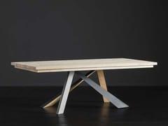 Tavolo da pranzo rettangolare in legno MADRID + METAL/LEGNO - ECOLAB 2