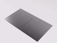Soffione doccia a cascata a soffitto con getto nebulizzato in acciaio inox MAE | Soffione doccia a cascata - Mae
