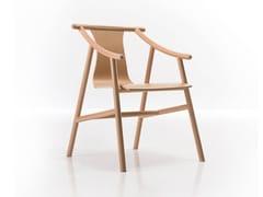 Sedia in faggio con braccioli MAGISTRETTI 03 01 | Sedia in legno - Magistretti