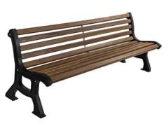 Panchina in legno con schienaleMAGNOLIA - CALZOLARI
