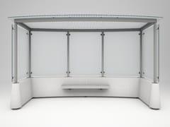 Pensilina in acciaio e vetro per fermata autobusMAGNUM EVOLUTION - BELLITALIA